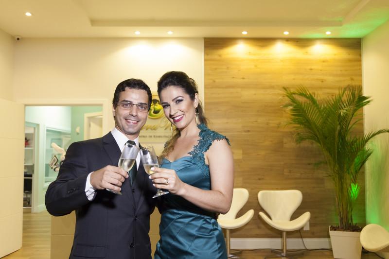 Drs João Paulo e Milena Fischer na inauguração da nova clínica